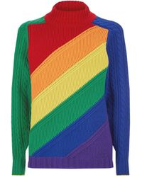 Burberry - Rainbow Wool & Cashmere Knit Sweater - Lyst