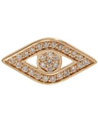 Sydney Evan - Yellow Gold And Diamond Evil Eye Stud Earring - Lyst