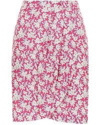Claudie Pierlot - Floral Printed Mini Skirt - Lyst