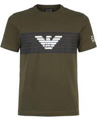 Armani - Eagle Logo T-shirt - Lyst