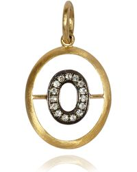 Annoushka - Yellow Gold And Diamond Initial O Pendant - Lyst