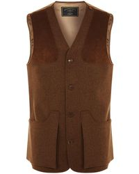 2e5ca2e5c5429 Reiss Gore - Tweed Front Zip Through in Black for Men - Lyst