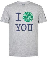 a94ab8b1 Polo Ralph Lauren Wimbledon Polo Bear T-shirt in White for Men - Lyst