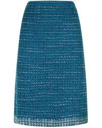 St. John - Embellished Tweed Skirt - Lyst
