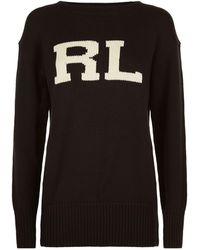 Polo Ralph Lauren - Varsity Logo Jumper - Lyst
