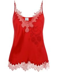 Carine Gilson - Lace Trim Camisole - Lyst