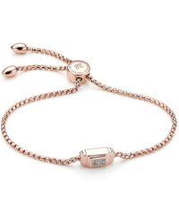 Monica Vinader - Baja Deco Diamond Bracelet, Gold - Lyst