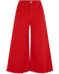 Pinko - Cropped Fringe Flared Jeans - Lyst