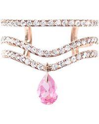 Diane Kordas - Rose Gold And Diamond Triple Band Spectrum Ring - Lyst