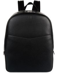 Dunhill - Leather Double Zip Backpack - Lyst