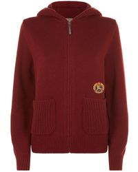 Burberry - Embroidered Crest Cashmere Hooded Top - Lyst