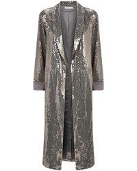 Alice + Olivia - Sequin Embellished Coat - Lyst