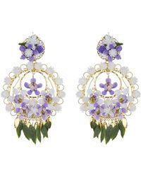 Mercedes Salazar - Flower Clip On Earrings - Lyst