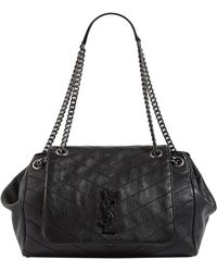 Lyst - Saint Laurent Black Nolita Small Leather Shoulder Bag in Black 19bf1f8d95b35