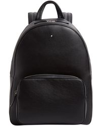 Montblanc - Grained Leather Backpack - Lyst