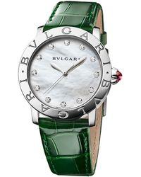BVLGARI - Mother-of-pearl And Diamond Bulgari Bulgari Lady Watch 33mm - Lyst