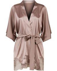 Fleur Of England - Silk Robe - Lyst