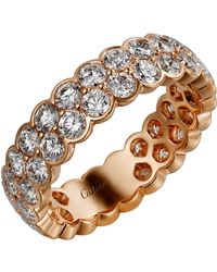 Cartier - Pink Gold And Diamond Coup D'clat De Ring - Lyst
