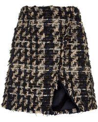 Faith Connexion - Asymmetric Tweed Skirt - Lyst