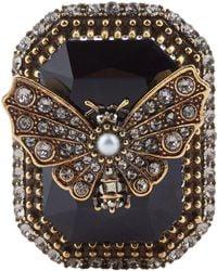 Alexander McQueen - Swarovski Crystal Butterflyring - Lyst