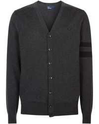 Fred Perry - Tipped Sleeve Cardigan - Lyst