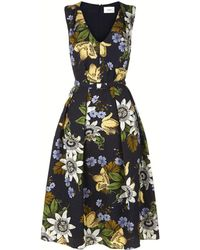 Kuni printed jacquard dress Erdem Sast Online 4RH9e