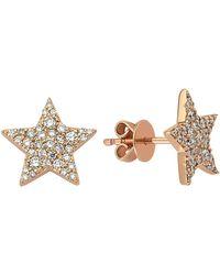 Bee Goddess - Star Light Diamond Earrings - Lyst