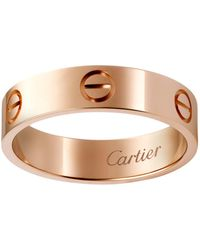 Cartier - Pink Gold Love Ring - Lyst