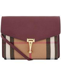 Burberry - Macken House Check Print Shoulder Bag - Lyst