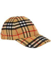 Burberry - Vintage Check Wool Baseball Cap - Lyst 34e0d5c54a45