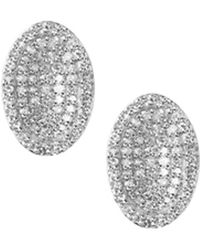 Links of London - Sterling Silver Diamond Essentials Pavé Concave Earrings - Lyst