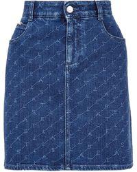 Stella McCartney - Logo Denim Skirt - Lyst