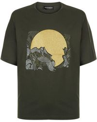 Armani - Moon And Waves T-shirt - Lyst