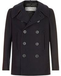 Burberry - Wool Blend Pea Coat - Lyst