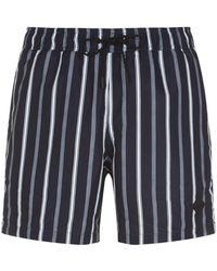 J.Lindeberg - Striped Swim Shorts - Lyst