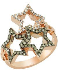 Bee Goddess - Sirius Star Light Diamond Ring - Lyst