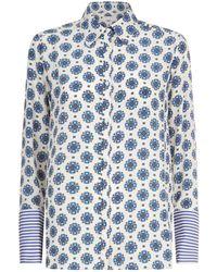 Sandro - Mosaic Print Shirt - Lyst