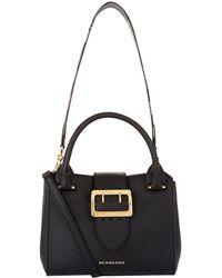 Burberry - Buckle Tote Bag, Black - Lyst