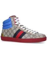 0db482e9f8d8 Gucci Coda Bling High-Top Trainers - For Men in Blue for Men - Lyst