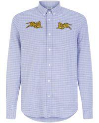 KENZO - Tiger Check Shirt - Lyst