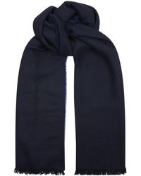 Sandro - Reversible Scarf, Blue, Tu - Lyst