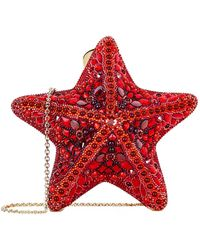 Judith Leiber - Coral Starfish Clutch - Lyst