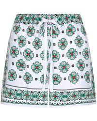 Sandro - Mosaic Print Shorts - Lyst