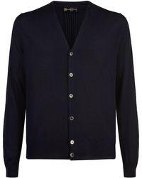 Corneliani - Wool, Silk And Cashmere Cardigan - Lyst