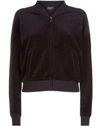 Juicy Couture - Starlight Cameo Velour Jacket - Lyst 00724aba9
