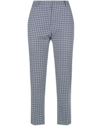 Weekend by Maxmara - Floral Trousers - Lyst
