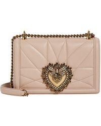 Dolce & Gabbana - Medium Leather Devotion Shoulder Bag - Lyst