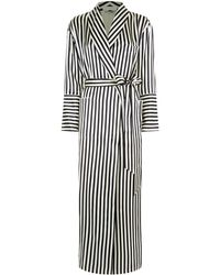 Olivia Von Halle - Capability Stripe Print Robe - Lyst
