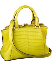 Cartier | C De Crocodile-leather And Calfskin Bag | Lyst