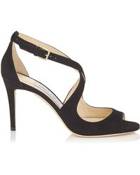 Jimmy Choo - Suede Emily Sandals 85 - Lyst